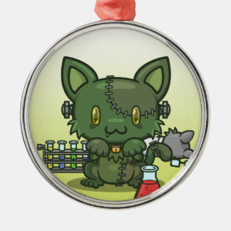 かわいいの子猫(フランケンシュタインのモンスター) メタルオーナメント
