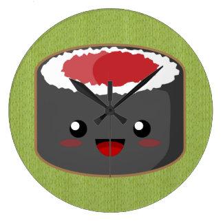 かわいいの寿司 ラージ壁時計
