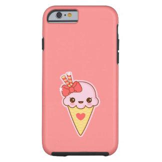 かわいいの幸せないちごのアイスクリームの円錐形 ケース