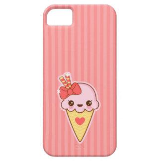 かわいいの幸せないちごのアイスクリームの円錐形 iPhone SE/5/5s ケース