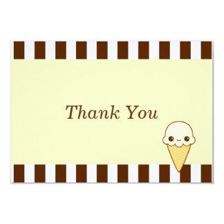 かわいいの幸せなバニラアイスクリームの円錐形 カード