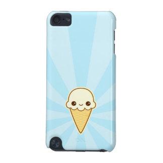 かわいいの幸せなバニラアイスクリームの円錐形 iPod TOUCH 5G ケース