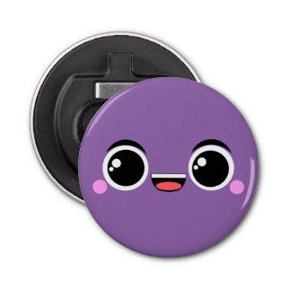 かわいいの幸せな日本製アニメは紫色に直面しました 栓抜き