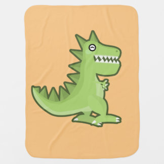 かわいいの恐竜 ベビー ブランケット