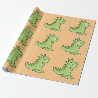 かわいいの恐竜 ラッピングペーパー