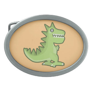 かわいいの恐竜 卵形バックル
