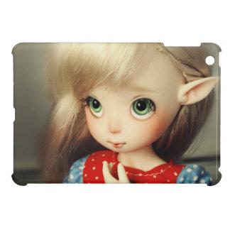 かわいいの愛らしい小妖精や小人の人形のbjdの美しくかわいらしい女の子 iPad miniケース