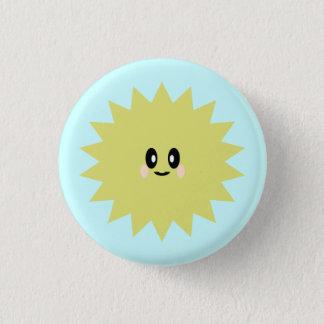 かわいいの日曜日の日光かわいく幸せなPINボタン 缶バッジ