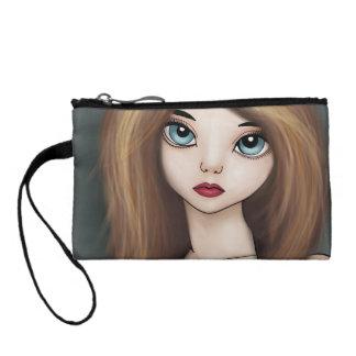 かわいいの日本製アニメの女の子の人形のマンガの日本のな硬貨の財布 コインパース
