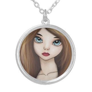 かわいいの日本製アニメの女の子の人形のマンガの日本人のネックレス シルバープレートネックレス