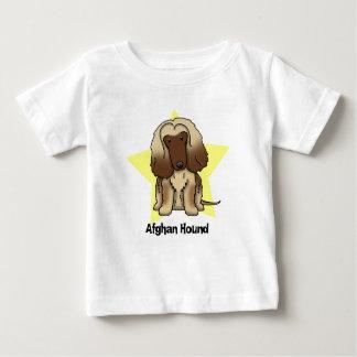 かわいいの星のアフガンハウンドのベビー ベビーTシャツ
