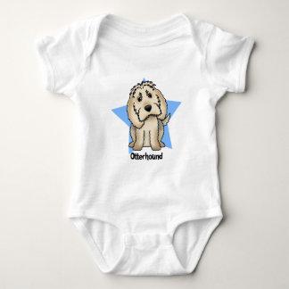 かわいいの星のカワウソ猟犬のベビーのクリーパー ベビーボディスーツ