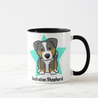 かわいいの星の三オーストラリアの羊飼い マグカップ