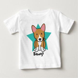 かわいいの星のBasenjiのベビーのTシャツ ベビーTシャツ