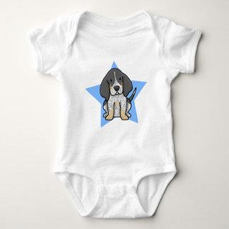 かわいいの星のBluetickのCoonhoundのベビーのクリーパー ベビーボディスーツ
