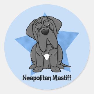 かわいいの星のNeapolitanマスティフ ラウンドシール