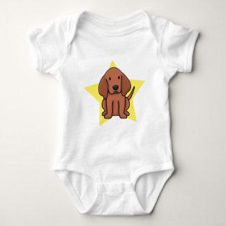 かわいいの星のRedboneのCoonhoundのベビーのクリーパー ベビーボディスーツ