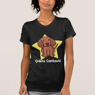 かわいいの星のRedboneのCoonhoundの女性Tシャツ Tシャツ