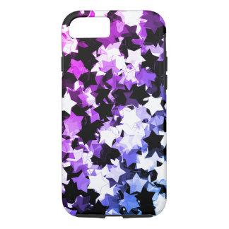 かわいいの星のShibuyaネオン紫色の夜 iPhone 8/7ケース