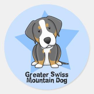 かわいいの星より素晴らしいスイス山犬 ラウンドシール