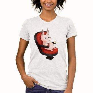 かわいいの映画館のバニーウサギ TEE シャツ