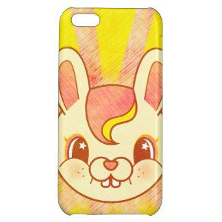かわいいの漫画のレトロのバニーウサギ iPhone5Cケース