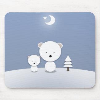かわいいの白くまのマウスパッド マウスパッド