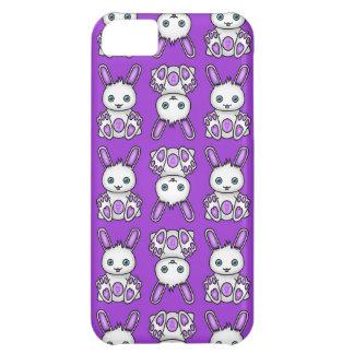 かわいいの紫色のバニーパターン iPhone5Cケース