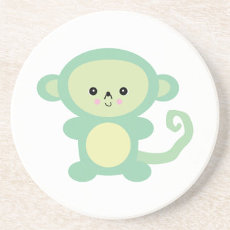 かわいいの緑猿 コースター