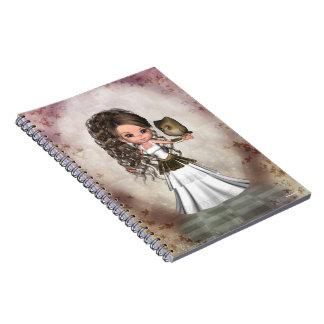 かわいいの美しいアテーナーのギリシャの女神のノート ノートブック