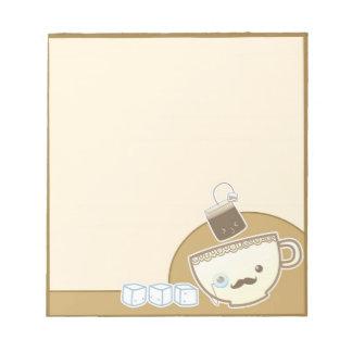 かわいいの茶時間メモ ノートパッド
