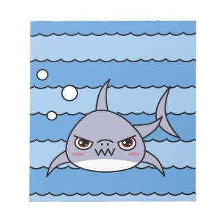 かわいいの鮫 ノートパッド