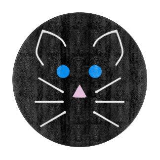 かわいいの黒猫の子猫の青い目の漫画動物 カッティングボード