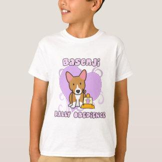 かわいいのBasenjiの再結集の従順 Tシャツ