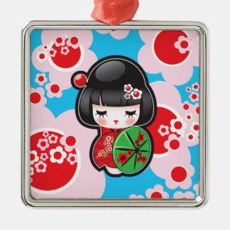 かわいいのKokeshiの人形 メタルオーナメント