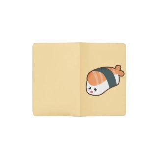 かわいいのnigiriのサケ ポケットMoleskineノートブック