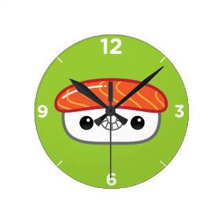 かわいいのNigiriの寿司の時計 ラウンド壁時計