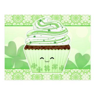 かわいいのSt patricks dayのかわいいカップケーキ ポストカード