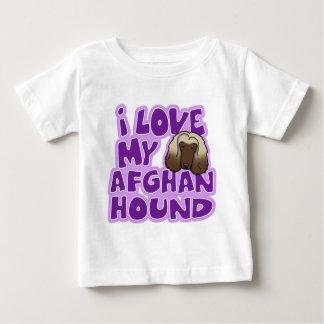 かわいいはI私のアフガンハウンドのベビーを愛します ベビーTシャツ