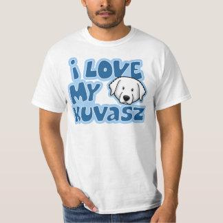 かわいいはI私のKuvaszを愛します Tシャツ