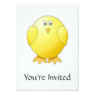 かわいいひよこ。 小さく黄色い鳥 カード