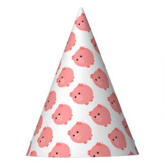 かわいいぽっちゃりしたブタのパーティーの帽子 パーティーハット
