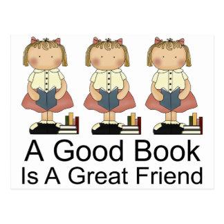 かわいいよい本は素晴らしい友人のTシャツです ポストカード