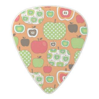 かわいいりんごのイラストレーションパターン アセタール ギターピック