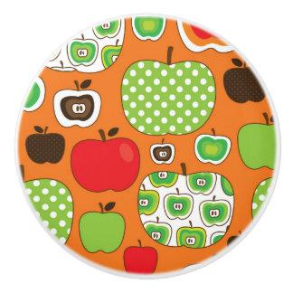 かわいいりんごの絵パターン セラミックノブ