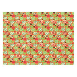 かわいいりんごの絵パターン テーブルクロス