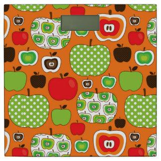 かわいいりんごの絵パターン 体重計