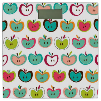 かわいいりんごパターン 体重計