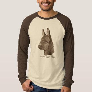 かわいいろばのスケッチの動物のポートレートの現実主義者の芸術 Tシャツ