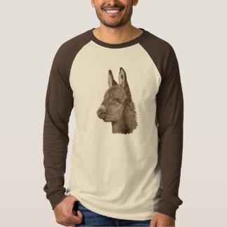 かわいいろばのスケッチの動物の現実主義者の芸術のTシャツ Tシャツ